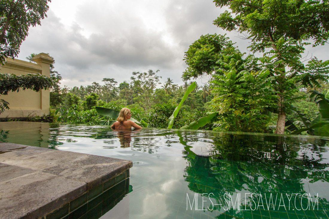 pool view in Komaneka Bisma resort in Ubud Bali