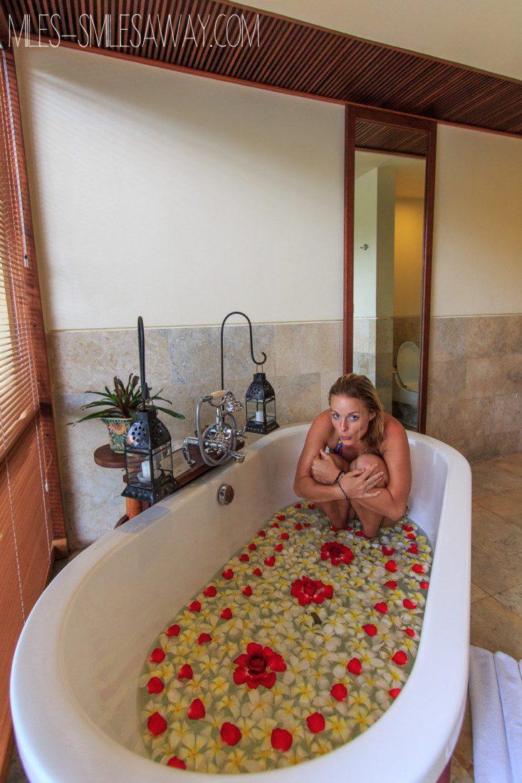 bathroom in Komaneka Bisma resort in Ubud Bali