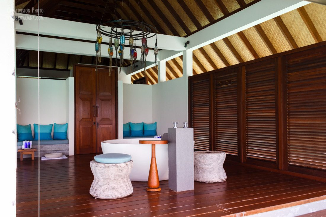 spa treatment water villa at Four Seasons Landaa Giraavaru