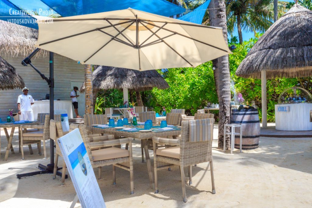 Restaurace Beach club One&Only Reethi Rah