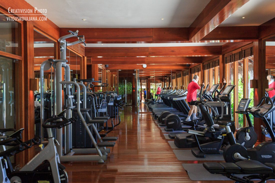 Gym at One & Only Reethi Rah in Maldives