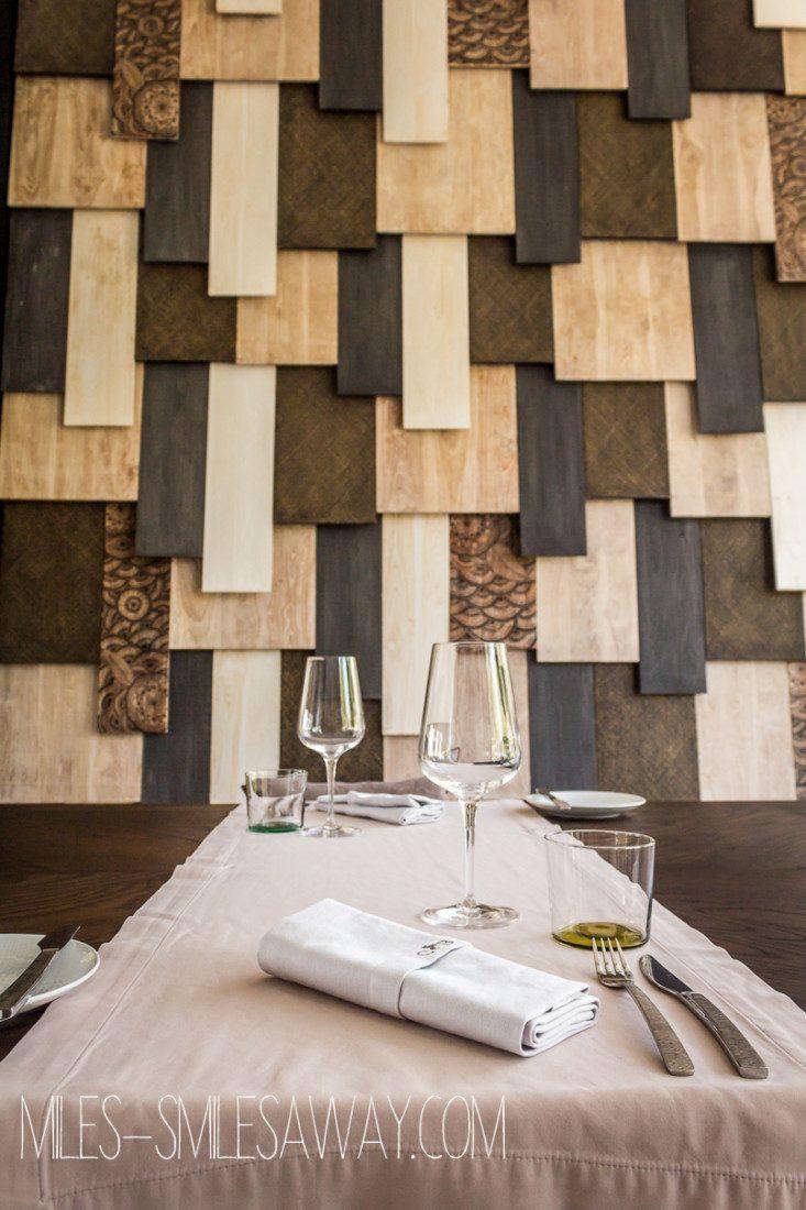 table setting at The White restaurant at Cheval Blanc Randelhi