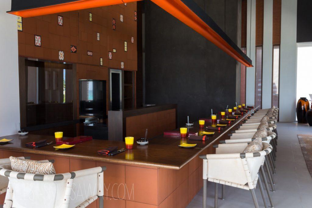 The Diptyque japanese-iberian restaurant at Cheval Blanc Randelhi