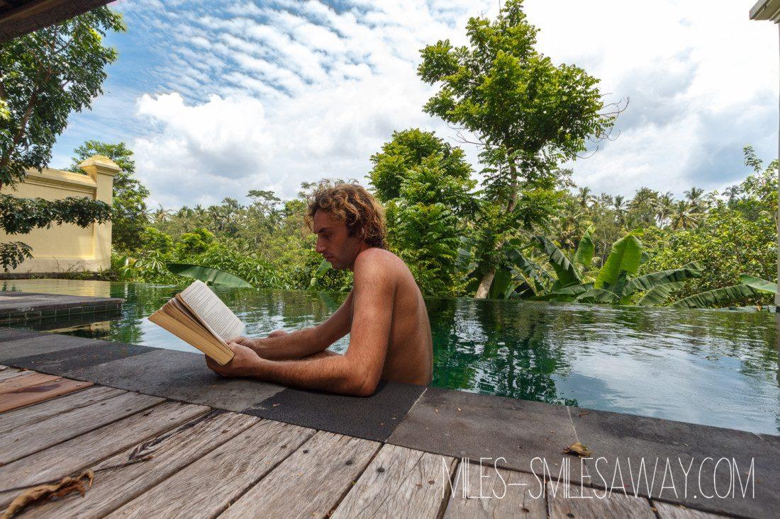 private pool in Komaneka Bisma resort in Ubud Bali
