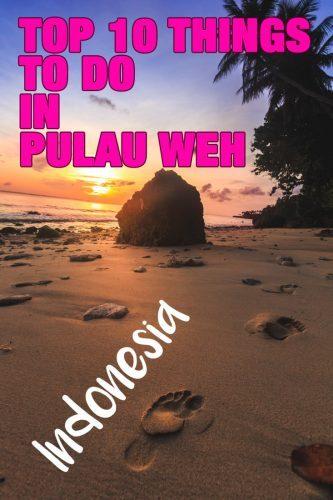 Pulau weh island Indonesia
