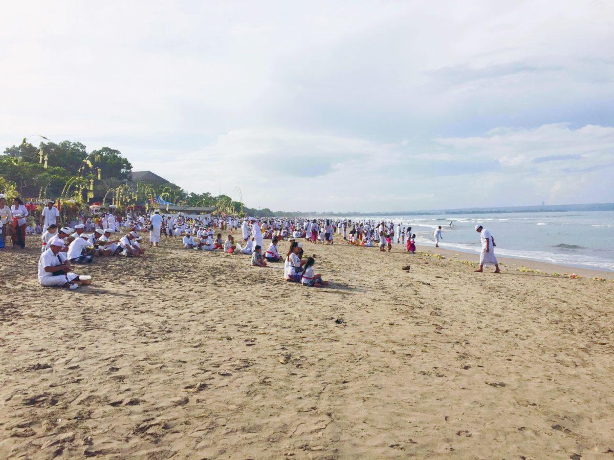 Bali beach Melasti celebration