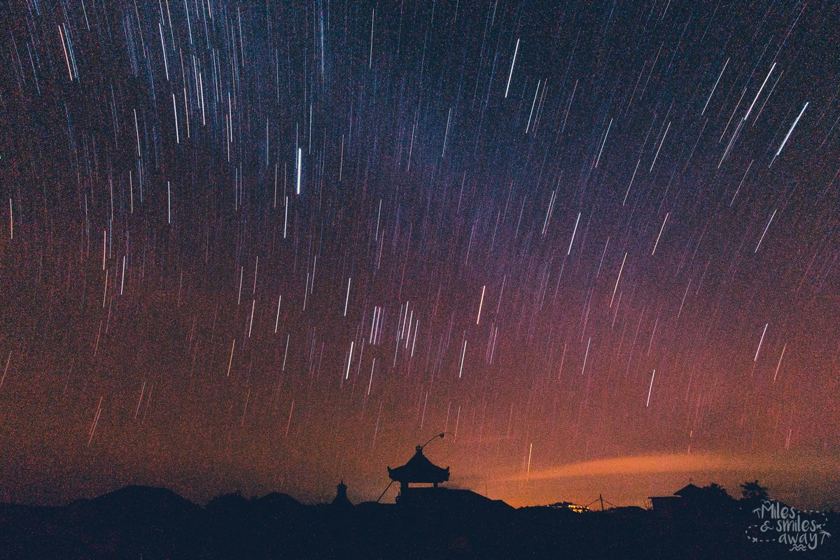 stars in Bali during Nyepi ceremony