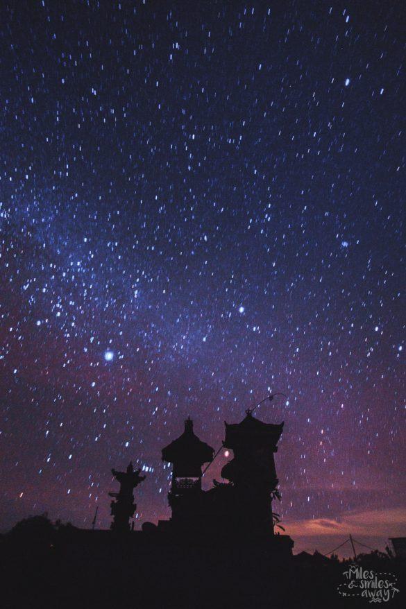 hvězdná obloha na Bali
