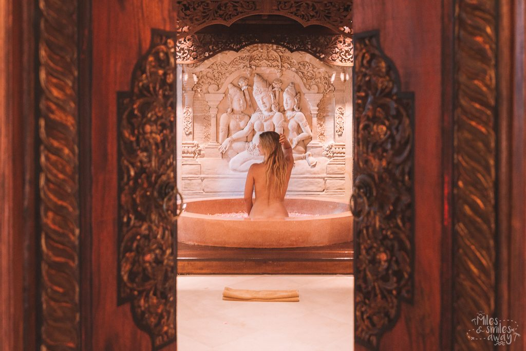 Bath time at Jamahal Private Resort & Spa in Bali
