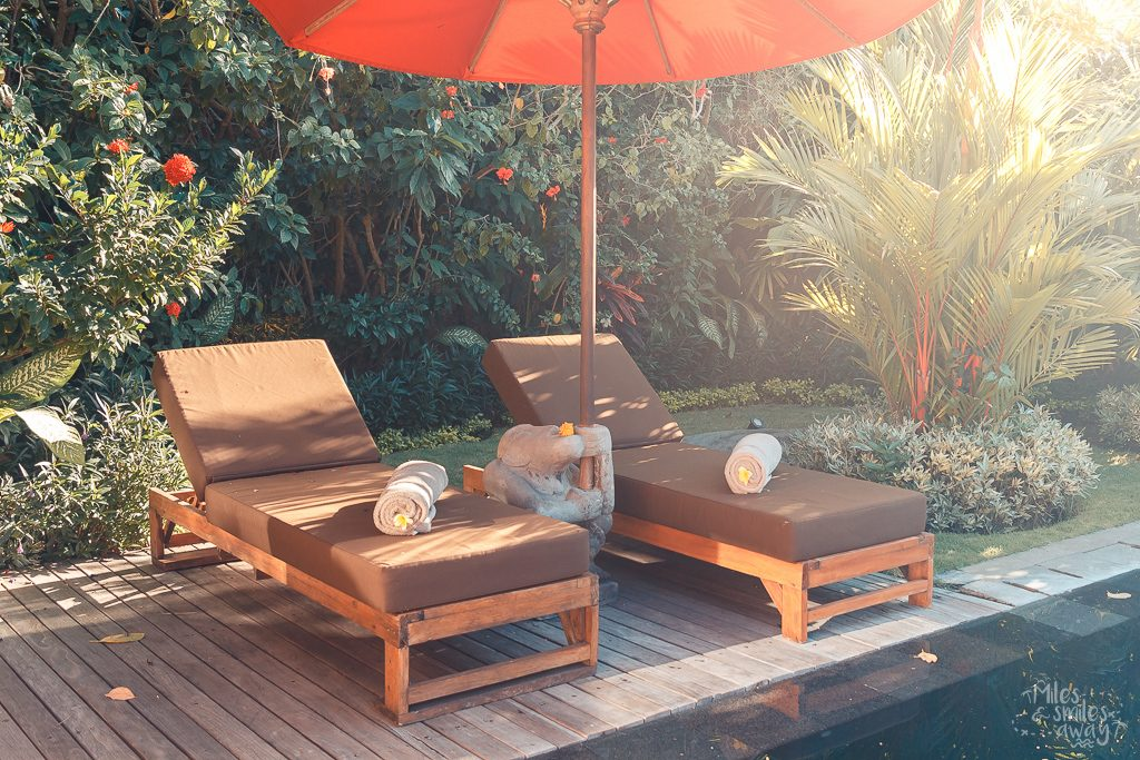 Sun lounges at Jamahal Private Resort & Spa in Bali