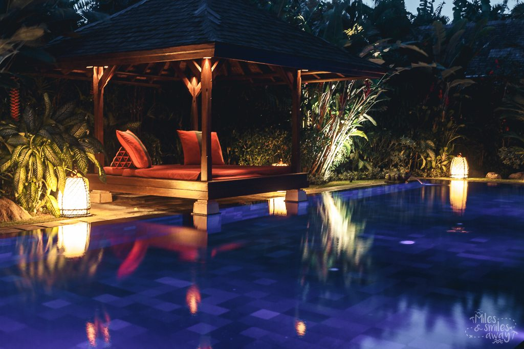 Night pool at Jamahal Private Resort & Spa in Bali