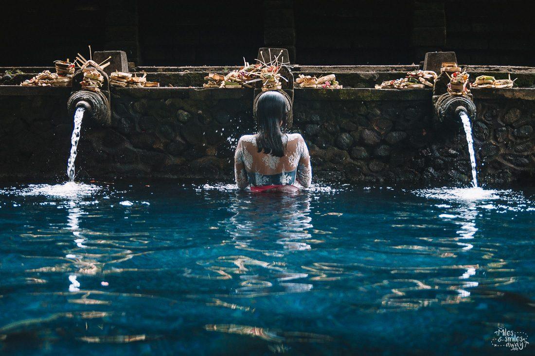 tirta empul ritual in Bali Indonesia
