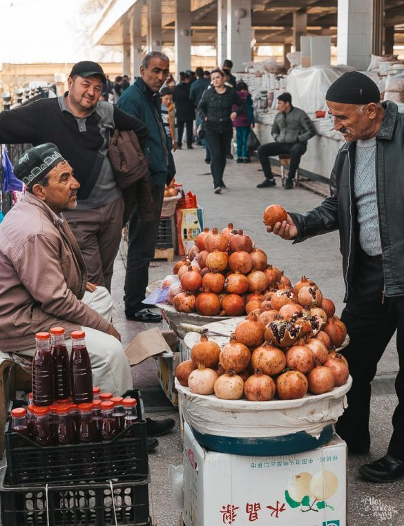 man selling pomegranates