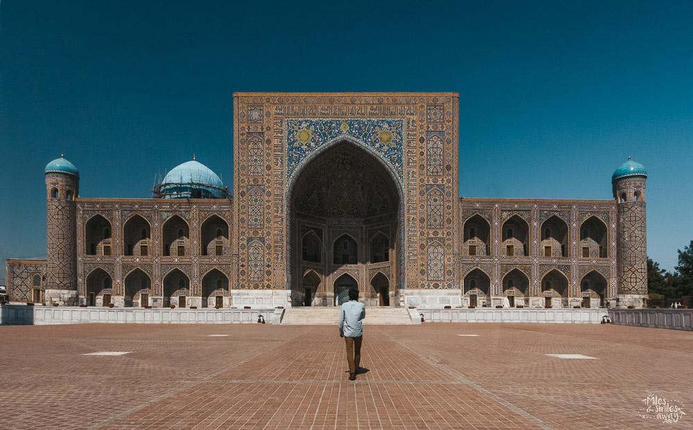 Registan square in samarkand uzbekistan