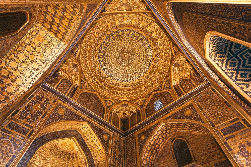 ceiling Tilya Kori Madrasa